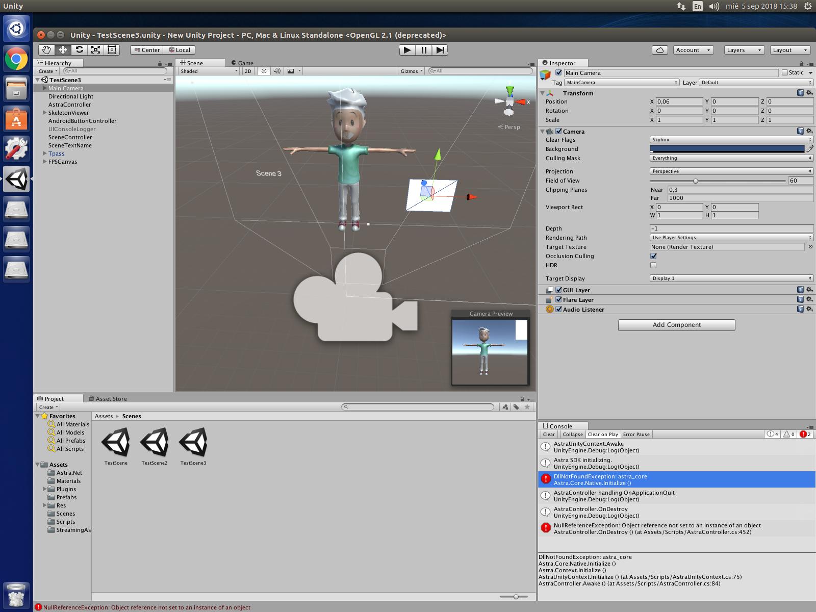 Orbbec Astra Pro + Unity3D in Ubuntu 16 04 - Orbbec 3D Club